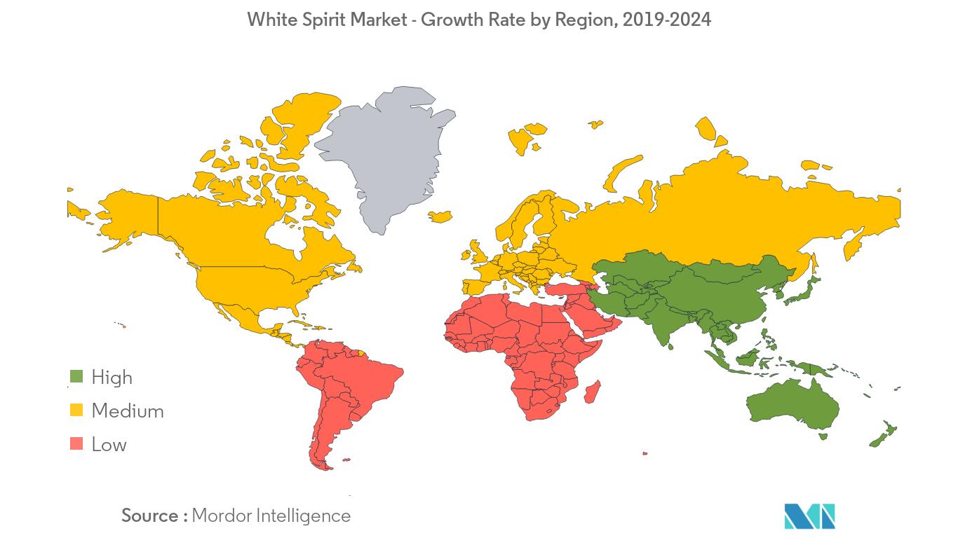 White Spirit Market Regional Trends